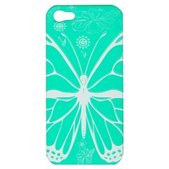 Butterfly Cut Out Flowers Apple Iphone 5 Hardshell Case