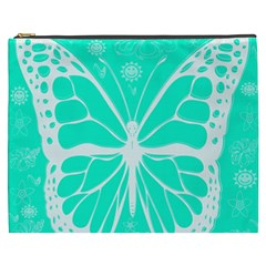Butterfly Cut Out Flowers Cosmetic Bag (XXXL)