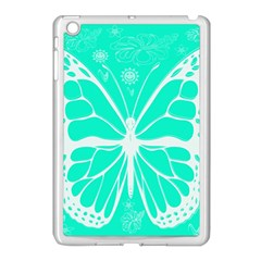 Butterfly Cut Out Flowers Apple iPad Mini Case (White)
