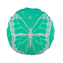 Butterfly Cut Out Flowers Standard 15  Premium Round Cushions