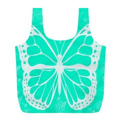 Butterfly Cut Out Flowers Full Print Recycle Bags (L)