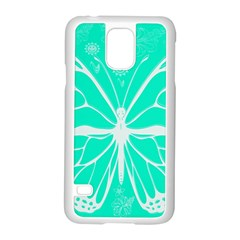 Butterfly Cut Out Flowers Samsung Galaxy S5 Case (White)
