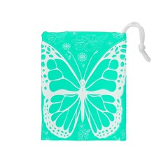 Butterfly Cut Out Flowers Drawstring Pouches (Medium)