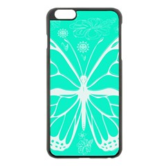 Butterfly Cut Out Flowers Apple iPhone 6 Plus/6S Plus Black Enamel Case
