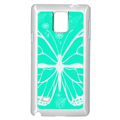Butterfly Cut Out Flowers Samsung Galaxy Note 4 Case (White)