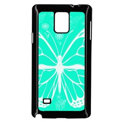 Butterfly Cut Out Flowers Samsung Galaxy Note 4 Case (black)