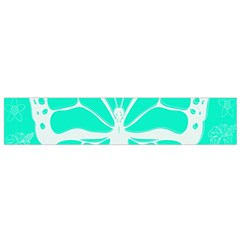 Butterfly Cut Out Flowers Flano Scarf (Small)
