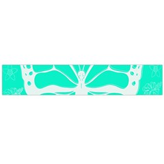 Butterfly Cut Out Flowers Flano Scarf (Large)