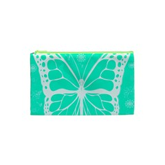 Butterfly Cut Out Flowers Cosmetic Bag (XS)