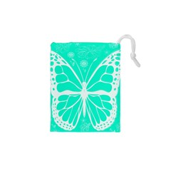 Butterfly Cut Out Flowers Drawstring Pouches (XS)
