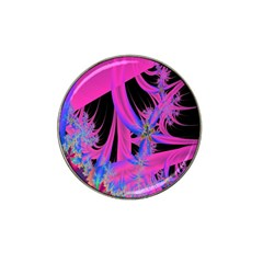Fractal In Bright Pink And Blue Hat Clip Ball Marker (10 pack)