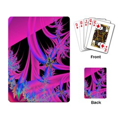 Fractal In Bright Pink And Blue Playing Card