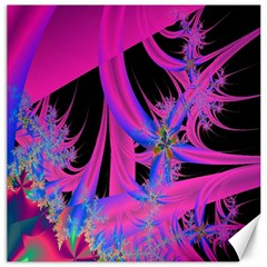 Fractal In Bright Pink And Blue Canvas 20  X 20