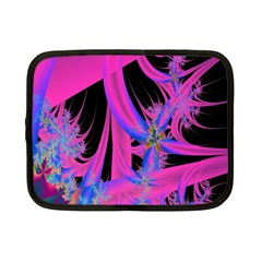 Fractal In Bright Pink And Blue Netbook Case (small)