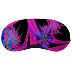 Fractal In Bright Pink And Blue Sleeping Masks