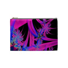 Fractal In Bright Pink And Blue Cosmetic Bag (medium)