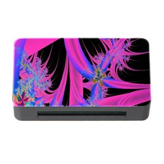 Fractal In Bright Pink And Blue Memory Card Reader With Cf
