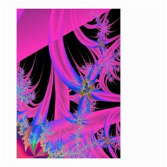 Fractal In Bright Pink And Blue Small Garden Flag (two Sides)