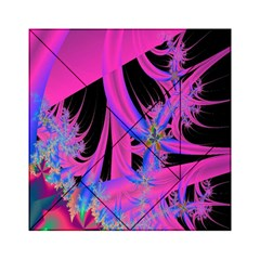 Fractal In Bright Pink And Blue Acrylic Tangram Puzzle (6  x 6 )