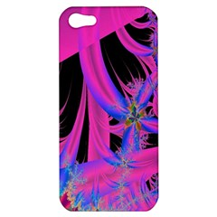Fractal In Bright Pink And Blue Apple Iphone 5 Hardshell Case