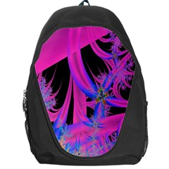 Fractal In Bright Pink And Blue Backpack Bag