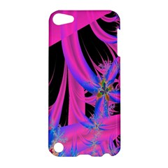 Fractal In Bright Pink And Blue Apple iPod Touch 5 Hardshell Case