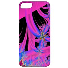 Fractal In Bright Pink And Blue Apple iPhone 5 Classic Hardshell Case