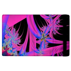 Fractal In Bright Pink And Blue Apple iPad 2 Flip Case