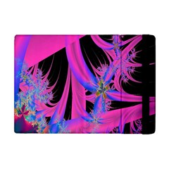 Fractal In Bright Pink And Blue Apple Ipad Mini Flip Case