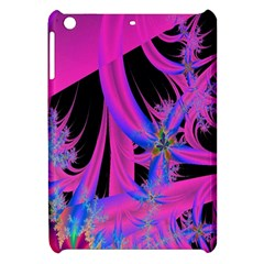 Fractal In Bright Pink And Blue Apple iPad Mini Hardshell Case