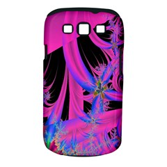 Fractal In Bright Pink And Blue Samsung Galaxy S III Classic Hardshell Case (PC+Silicone)