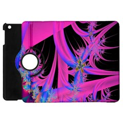 Fractal In Bright Pink And Blue Apple iPad Mini Flip 360 Case