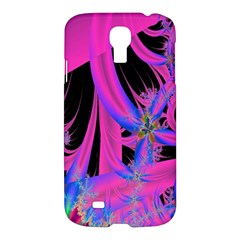 Fractal In Bright Pink And Blue Samsung Galaxy S4 I9500/I9505 Hardshell Case