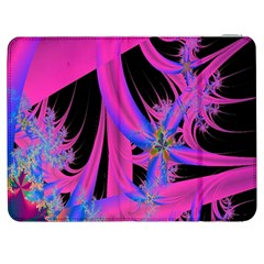 Fractal In Bright Pink And Blue Samsung Galaxy Tab 7  P1000 Flip Case