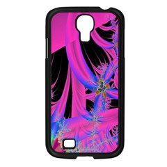 Fractal In Bright Pink And Blue Samsung Galaxy S4 I9500/ I9505 Case (black)