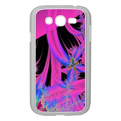 Fractal In Bright Pink And Blue Samsung Galaxy Grand Duos I9082 Case (white)