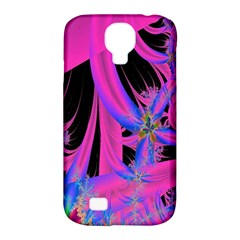 Fractal In Bright Pink And Blue Samsung Galaxy S4 Classic Hardshell Case (PC+Silicone)