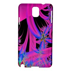 Fractal In Bright Pink And Blue Samsung Galaxy Note 3 N9005 Hardshell Case
