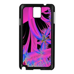 Fractal In Bright Pink And Blue Samsung Galaxy Note 3 N9005 Case (black)