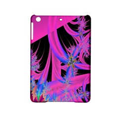 Fractal In Bright Pink And Blue iPad Mini 2 Hardshell Cases