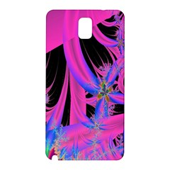 Fractal In Bright Pink And Blue Samsung Galaxy Note 3 N9005 Hardshell Back Case