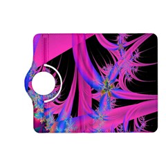 Fractal In Bright Pink And Blue Kindle Fire HD (2013) Flip 360 Case