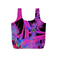Fractal In Bright Pink And Blue Full Print Recycle Bags (s)