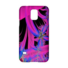 Fractal In Bright Pink And Blue Samsung Galaxy S5 Hardshell Case