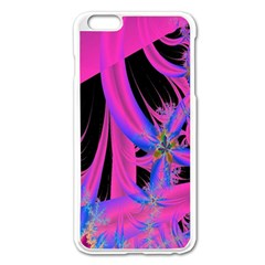 Fractal In Bright Pink And Blue Apple Iphone 6 Plus/6s Plus Enamel White Case