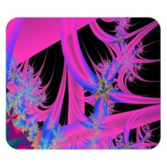 Fractal In Bright Pink And Blue Double Sided Flano Blanket (small)