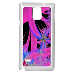 Fractal In Bright Pink And Blue Samsung Galaxy Note 4 Case (White)