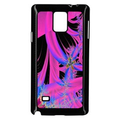 Fractal In Bright Pink And Blue Samsung Galaxy Note 4 Case (Black)