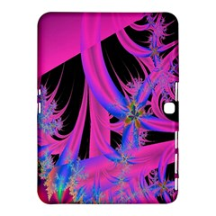 Fractal In Bright Pink And Blue Samsung Galaxy Tab 4 (10.1 ) Hardshell Case