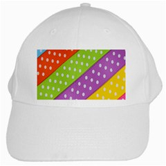 Colorful Easter Ribbon Background White Cap